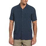 Men's Cubavera Geo-Pattern Button-Down Shirt