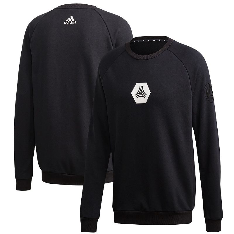 Men's adidas Black Atlanta United FC Tango Raglan Sweatshirt, Size: Medium