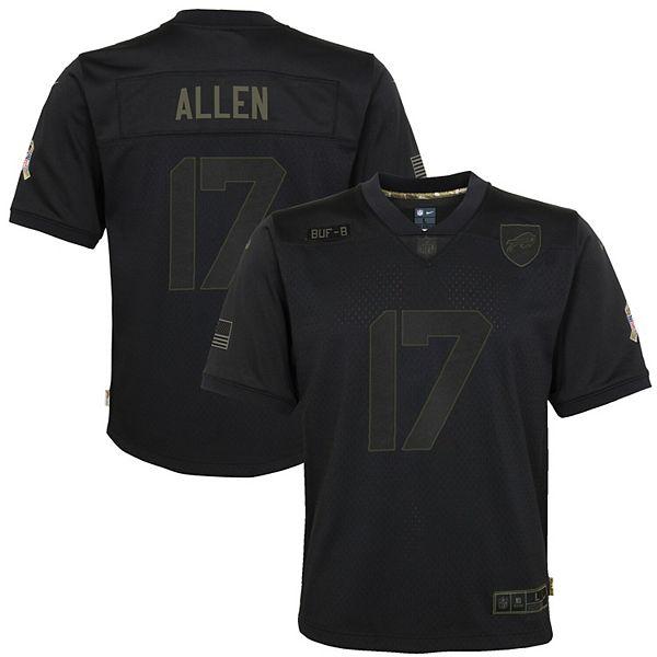Youth Nike Josh Allen Black Buffalo Bills 2020 Salute to Service Game Jersey