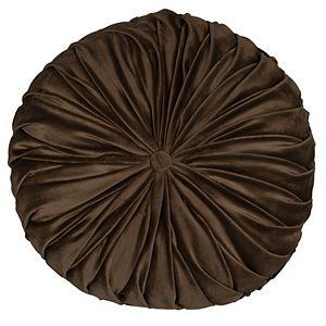 Stratton Home Decor Round Tufted Velvet Throw Pillow