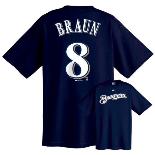 Majestic Milwaukee Brewers Ryan Braun Tee - Boys 8-20