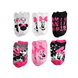 Disney's Minnie Mouse Girls 6-Pack No-Show Socks