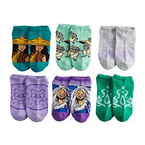 Disney's Raya & The Last Dragon Girls 6-Pack No-Show Socks