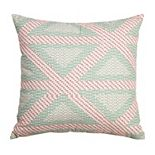Arden Selections Bold Blush Crosshatch Triangle Throw Pillow
