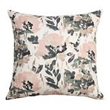 Arden Selections Bold Blush Pastel Watercolor Floral Throw Pillow