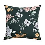 Arden Selections Bold Blush Watercolor Floral with French Knots Throw Pillow