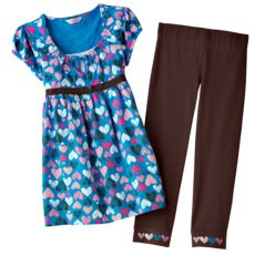 Energie 2-pc. Heart Top and Leggings Set