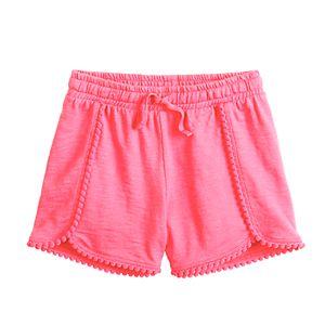 Girls 4-12 Jumping Beans® Pom-Trim Shortie Shorts