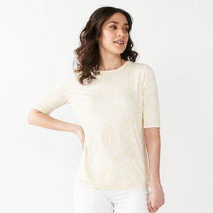 Women's Nine West Essential Soft-Spun Elbow-Sleeve Top