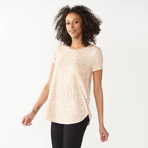 Women's Nine West Essential Soft-Spun Short Sleeve Tunic Tee