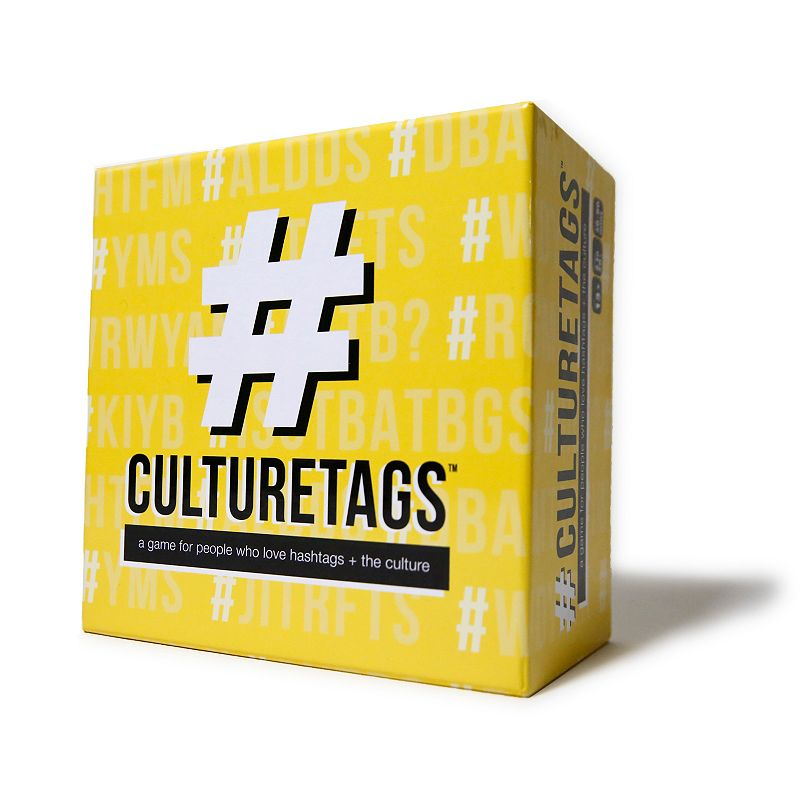 Culture Tags Card Game, Multicolor CultureTags is a spirited, family-friendly game that will test just how well you know the culture! CultureTags is a spirited, family-friendly game that will test just how well you know the culture! HOW TO PLAY: grab a card, announce the category, and provide hints to help the other person guess the CultureTag before time runs out! Family-friendly, multigenerational and playable in person or virtually Includes: 350 cards, Sand Timer, Dry Erase Marker, 5 Blank DIY cards Dimensions: 6 in. x 6 in. x 3 in. Ages 13 and up 2 or more players 30-90 minute playtime Wipe clean Imported Size: One Size. Color: Multicolor. Gender: unisex. Age Group: kids.