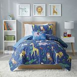 Mi Zone Kid's Rainbow Safari Printed Coverlet Set