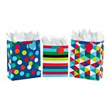Hallmark Large & Extra Large Polka Dot, Striped, & Geometric Gift Bags Tissue Paper