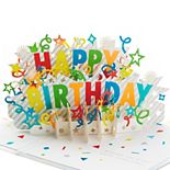 "Hallmark Signature Paper Wonder Pop Up ""Happy Birthday"" Greeting Card"