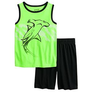 Boys 4-8 Jumping Beans Active Muscle Tank & Shorts Set