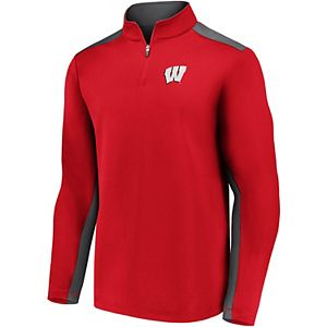 Men's Fanatics Wisconsin Badgers Primary Logo Pullover