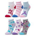 Girls 4-16 SO® 6-Pack Patterned Ankle Socks