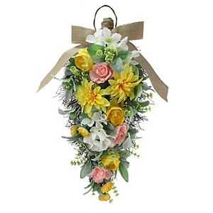 Sonoma Goods For Life Countryside Faux Floral Teardrop Wall Decor