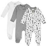 HONEST BABY CLOTHING 3-Pack Organic Cotton Sleep & Play Bodysuit