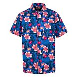 Boys 8-20 Hurley Tropical Floral Printed Camp Shirt