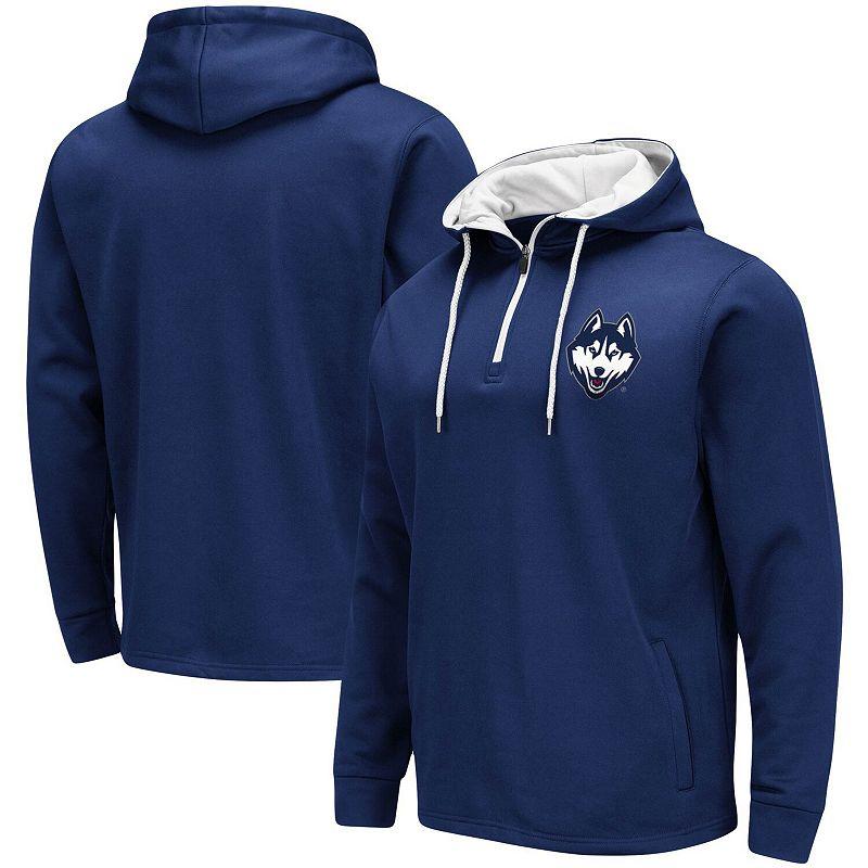 Men's Colosseum Navy UConn Huskies Paynes Quarter-Zip Pullover Hoodie, Size: 2XL, Blue