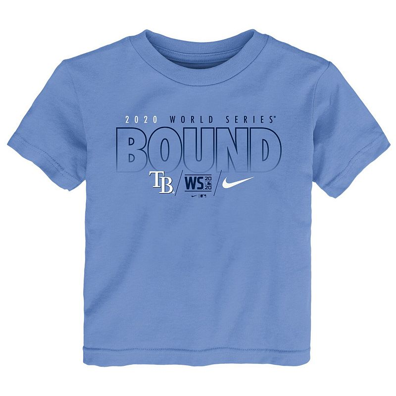 Toddler Nike Light Blue Tampa Bay Rays 2020 World Series Bound T-Shirt, Toddler Unisex, Size: 3T