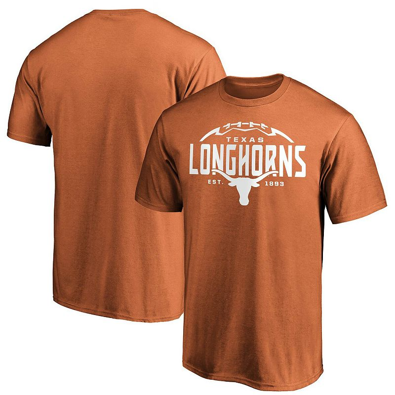 Men's Fanatics Branded Texas Orange Texas Longhorns Stacked Laces T-Shirt, Size: Large