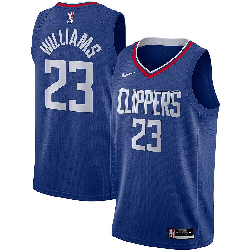 Men's Nike Lou Williams Royal LA Clippers 2020/21 Swingman Jersey - Icon Edition, Size: Small, Blue