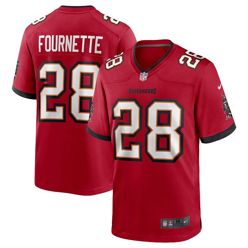 Men's Nike Leonard Fournette Red Tampa Bay Buccaneers Game Player Jersey, Size: Large