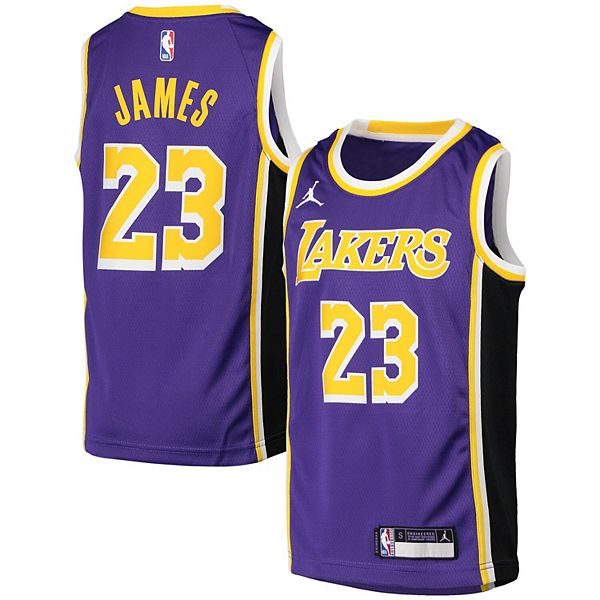 Youth Jordan Brand LeBron James Purple Los Angeles Lakers 2020/21 Swingman Player Jersey - Statement Edition