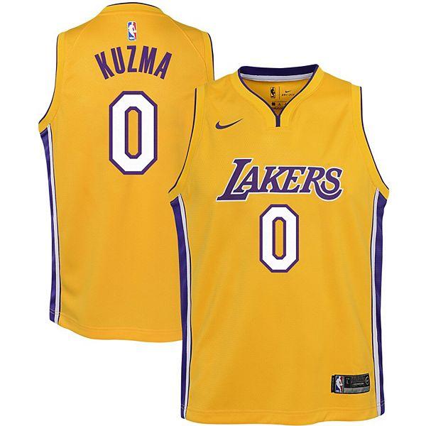 Youth Nike Kyle Kuzma Gold Los Angeles Lakers 2020/21 Swingman Jersey - Icon Edition