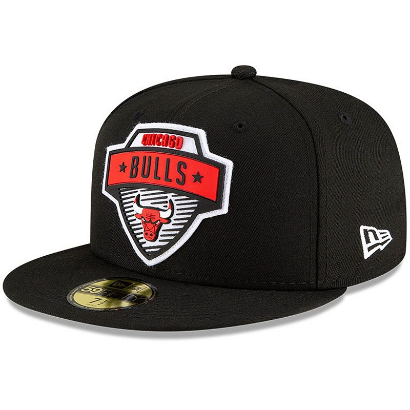 Men's New Era Black Chicago Bulls 2020 Tip Off 59FIFTY Fitted Hat, Size: 7 1/4