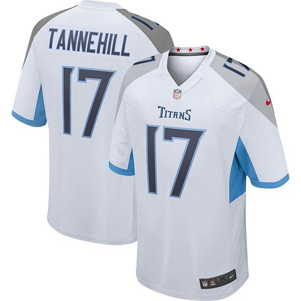 Men's Nike Ryan Tannehill White Tennessee Titans Game Jersey