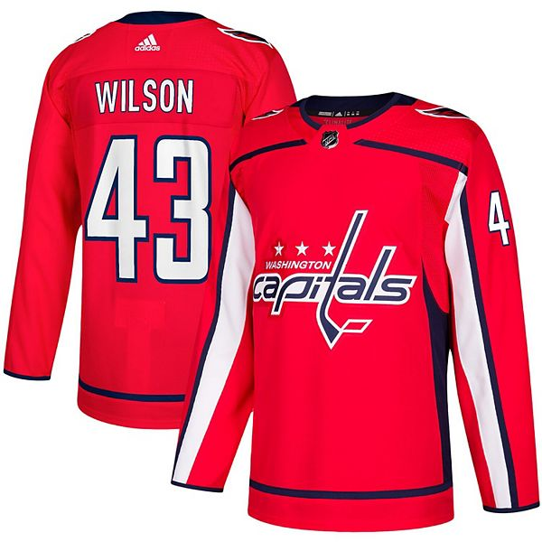 Men's adidas Tom Wilson Red Washington Capitals Home Authentic Player Jersey