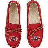 Men's San Francisco 49ers Big Logo Moccasin Slippers