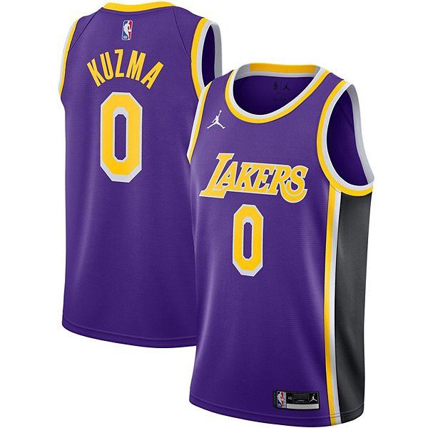 Men's Jordan Brand Kyle Kuzma Purple Los Angeles Lakers 2020 ...