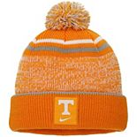 Youth Nike Tennessee Orange/White Tennessee Volunteers Sideline Cuffed Knit Hat with Pom