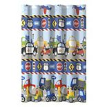 Dream Factory Cars and Trucks Shower Curtain