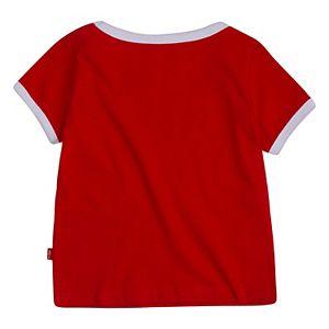 Toddler Girl Levi's® Logo Ringer Tee