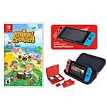 Animal Crossing: New Horizons + Deluxe Travel Case for Nintendo Switch Game & Case Bundle
