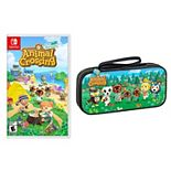 Animal Crossing: New Horizons + Animal Crossing Deluxe Travel Case for Nintendo Switch Game & Case Bundle