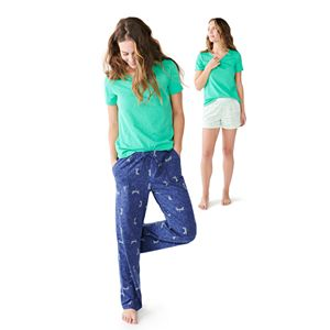 Women's Sonoma Goods For Life® 3-pc. Pajama Top, Pajama Pants and Pajama Shorts Set