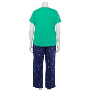 Plus Size Sonoma Goods For Life® 3-pc. Pajama Top, Pajama Pants and Pajama Shorts Set