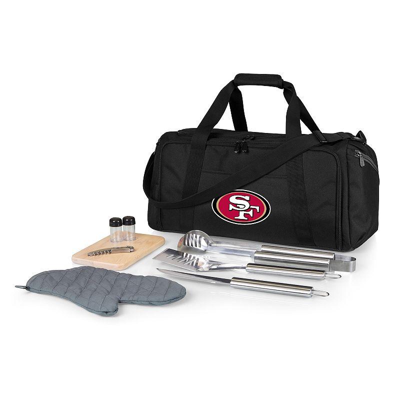 Picnic Time San Francisco 49ers BBQ Grill Set & Cooler, Black