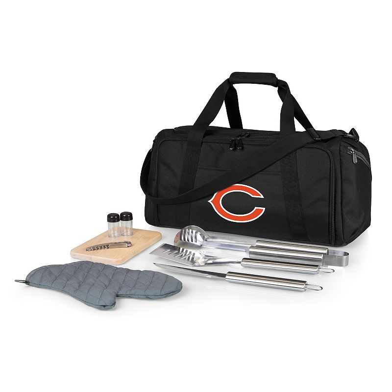 Picnic Time Chicago Bears BBQ Grill Set & Cooler, Black