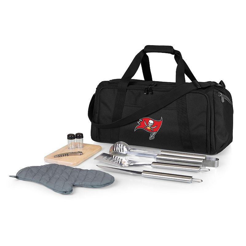 Picnic Time Tampa Bay Buccaneers BBQ Grill Set & Cooler, Black