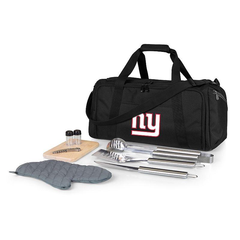 Picnic Time New York Giants BBQ Grill Set & Cooler, Black