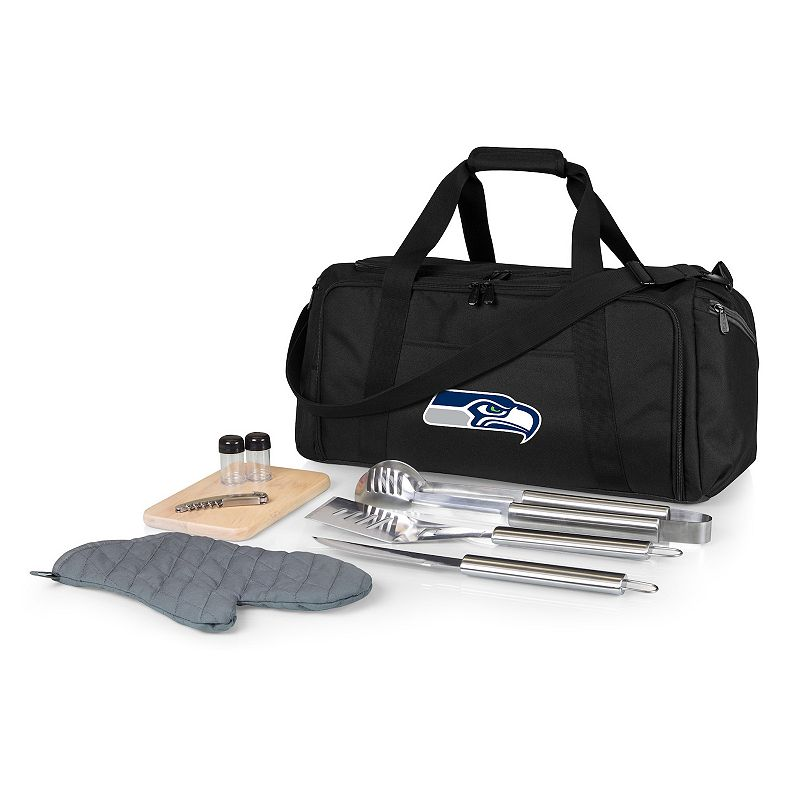 Picnic Time Seattle Seahawks BBQ Grill Set & Cooler, Black