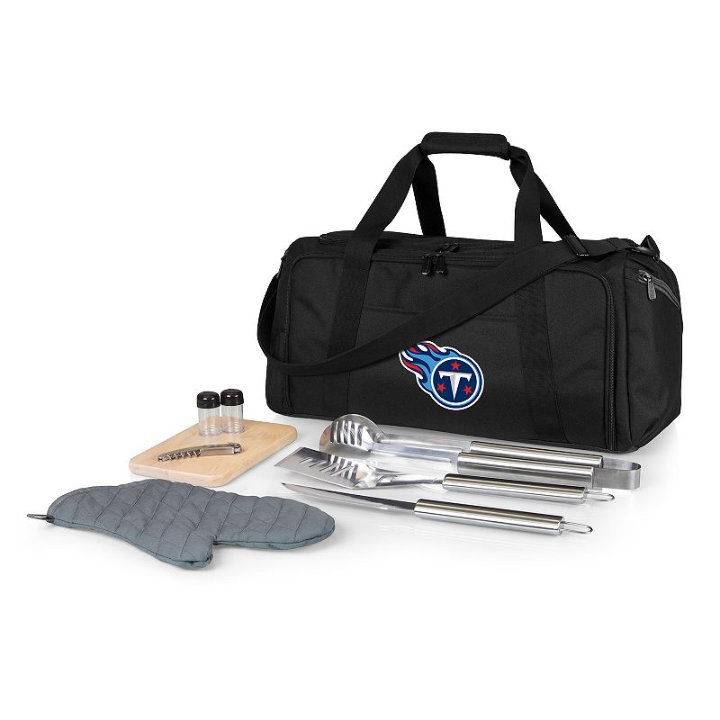 Picnic Time Tennessee Titans BBQ Grill Set & Cooler, Black