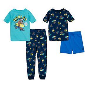 Boys 4-14 Hurley Tops, Shorts & Pants Pajama Set